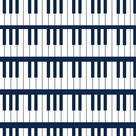 Rock N Roll Piano fabric by jenniferfranklin on Spoonflower - custom fabric