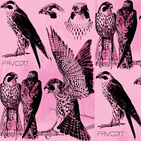 Meheut hawk-ch fabric by craftyscientists on Spoonflower - custom fabric