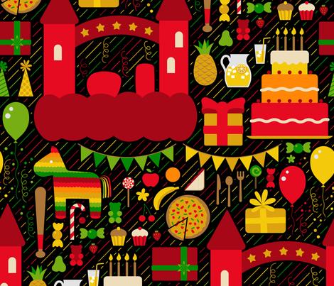 happy birthday fabric by analinea on Spoonflower - custom fabric