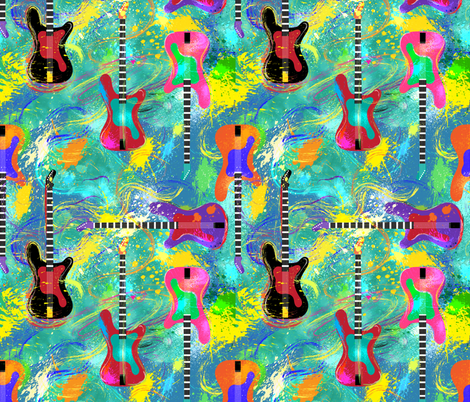 Rock and Roll is Here to Stay fabric by vo_aka_virginiao on Spoonflower - custom fabric