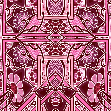 Pink Block Garden fabric by edsel2084 on Spoonflower - custom fabric