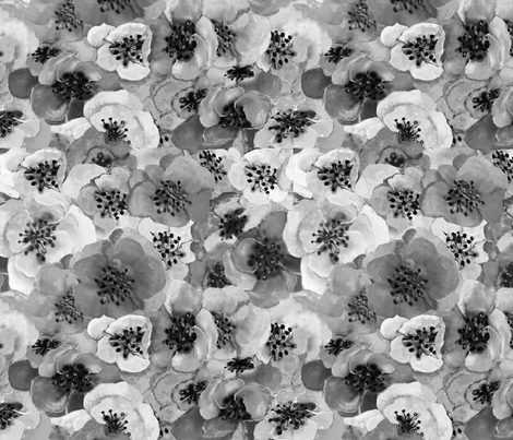 Bouquet Black & White fabric by designsld on Spoonflower - custom fabric