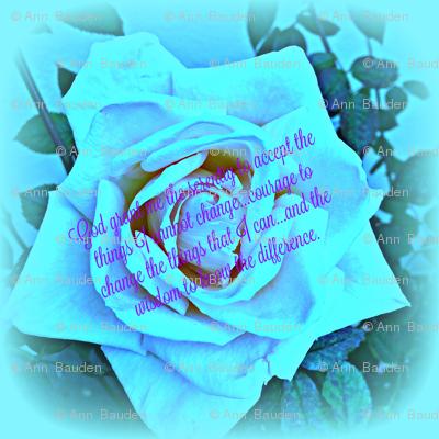 Blue Rose Serenity Prayer