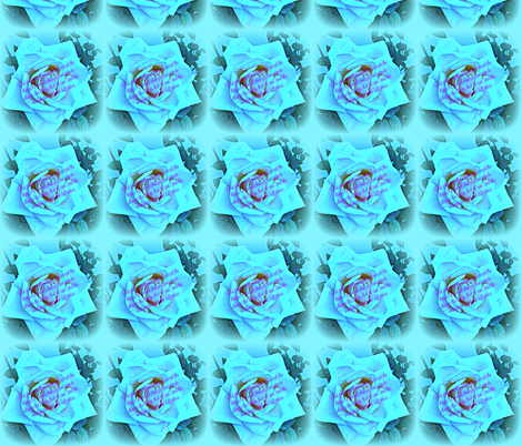 Blue Rose Serenity Prayer fabric by bauden on Spoonflower - custom fabric