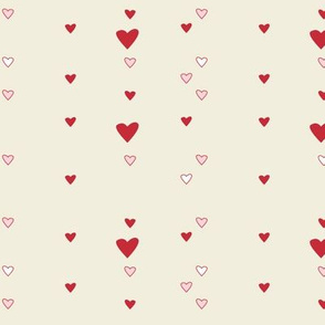 hearts (natural and red)