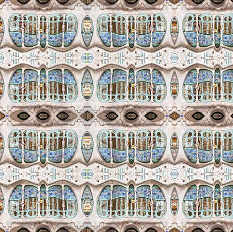 Casa Batllo mirrored small fabric by enigmaticd on Spoonflower - custom fabric