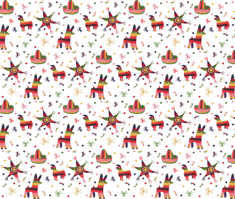 Pinata raw fabric by colour_angel_by_kv on Spoonflower - custom fabric