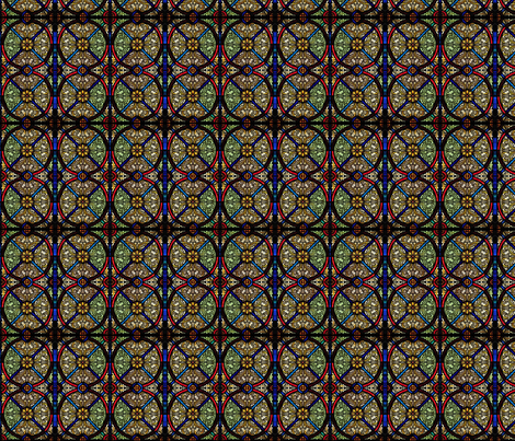 stained glass  fabric by enigmaticd on Spoonflower - custom fabric