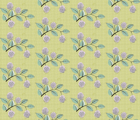 Mid Century Pink - Roses fabric by hollywood_royalty on Spoonflower - custom fabric