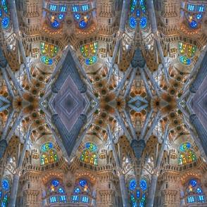 Sagrada Familia mirrored
