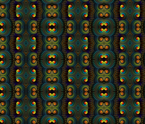 stained glass spirals mirrored fabric by enigmaticd on Spoonflower - custom fabric