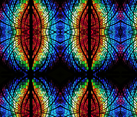 stained glass mirrored wings fabric by enigmaticd on Spoonflower - custom fabric