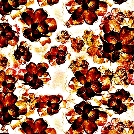 Rainbow_flowers_05 fabric by stradling_designs on Spoonflower - custom fabric