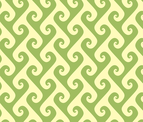 green tea tendrils fabric by weavingmajor on Spoonflower - custom fabric