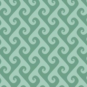 spring green tendrils