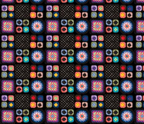 GrannySquareTwo  fabric by juliamonroe on Spoonflower - custom fabric