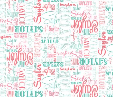SaylorTypeset fabric by gloryb on Spoonflower - custom fabric