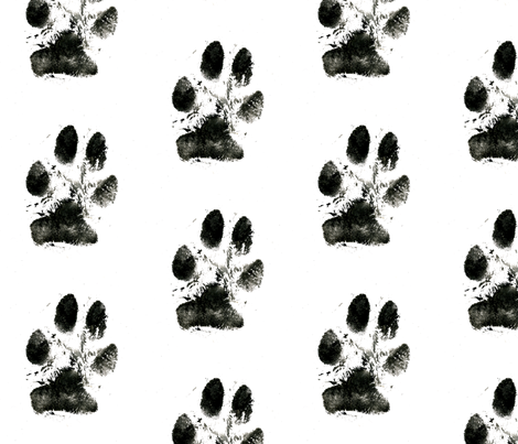 paw fabric by lakr on Spoonflower - custom fabric