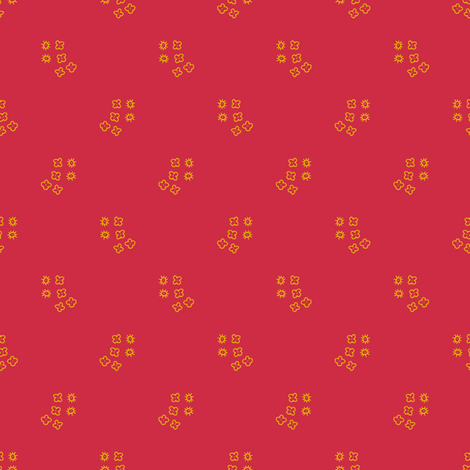 Geo Blossom (fire) fabric by seesawboomerang on Spoonflower - custom fabric