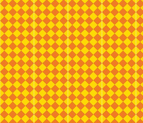 SSR Jougasaki Check in Yellow fabric by barracuda on Spoonflower - custom fabric