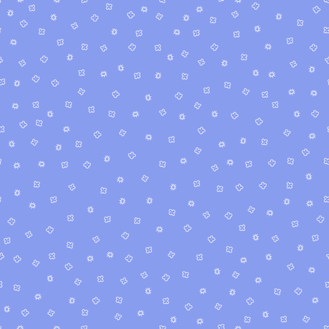 Scatter Blossom (periwinkle) fabric by seesawboomerang on Spoonflower - custom fabric