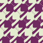 cats-tooth in purple and mint (large scale)