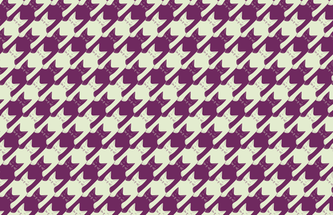 cats-tooth in purple and mint (large scale) fabric by eleventy-five on Spoonflower - custom fabric