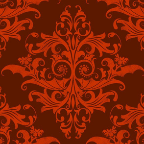 Calvarium Damask - red on red