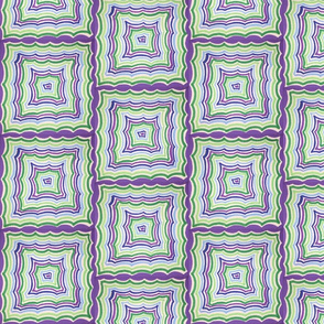 Purple and Green Illusions