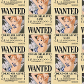 Nami's wanted poster from One Piece (color edit)