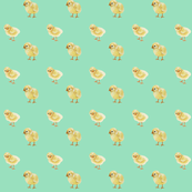 Baby Chicks on Soft Green, Easter Spring