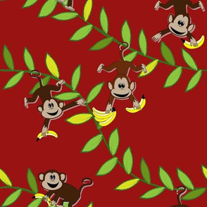 Monkey, monkey (dark red)