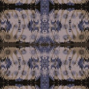 Fern leaf pattern in brown & blue