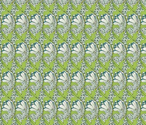 voysey1896 fabric by unseen_gallery_fabrics on Spoonflower - custom fabric