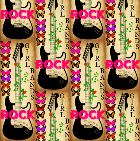 girl bands fabric by lbehrendtdesigns on Spoonflower - custom fabric