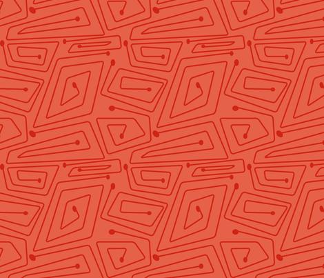 Mid-Century Spirals (shrimp palette) fabric by studiofibonacci on Spoonflower - custom fabric