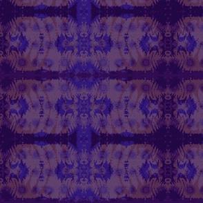 Fern leaf in purple & blue