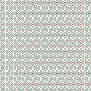 Annika Diamond - Geometric Grey & Red