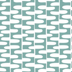 Hopscotch - Geometric Aqua Blue