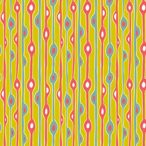 Seaweed Strand - Abstract Stripe Custom Cw fabric by heatherdutton on Spoonflower - custom fabric