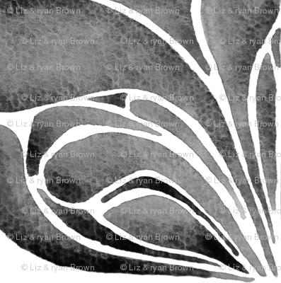 Black Bloom Watercolor