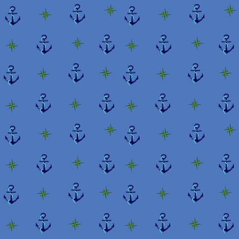 Nautical adventures (1) fabric by cleverlittlestaffie on Spoonflower - custom fabric