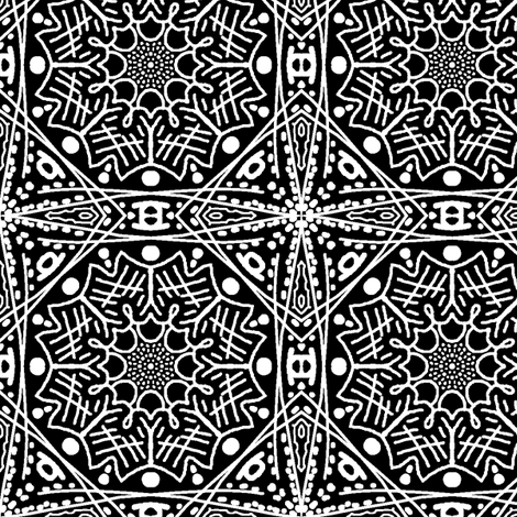 Simple Black And White fabric by tallulahdahling on Spoonflower - custom fabric