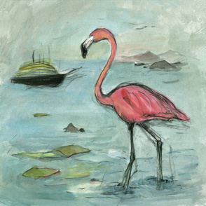 Flamingo boats