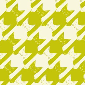cats-tooth in lime green and light yellow