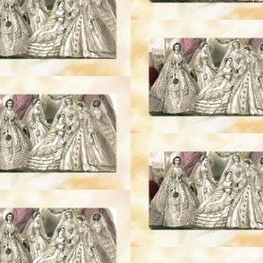 Godey's Ladies Fashion Plate Victorian Wedding Brides 1860s