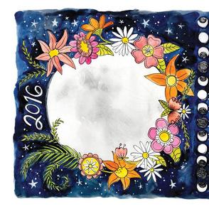 2016 Moon Calendar Tea Towel
