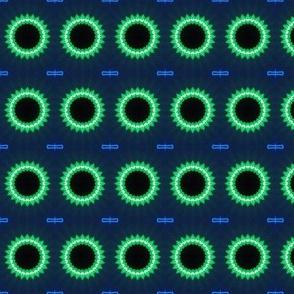 Glowing Green Gears