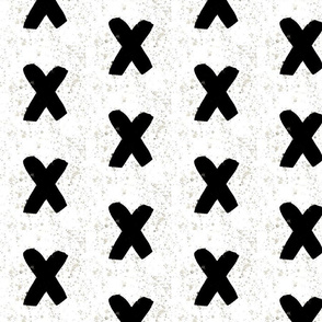 Black watercolor crosses - black plus sign