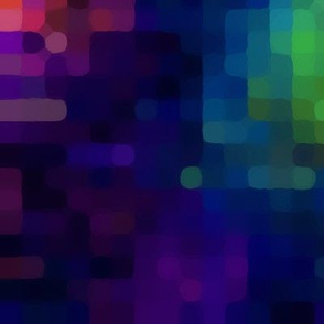 Rainbow pixel dot abstract pattern